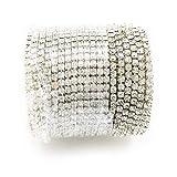 yueton 11 Yards Crystal Rhinestone Close Chain Trimming Claw Chain Jewelry Crafts DIY (Silver)
