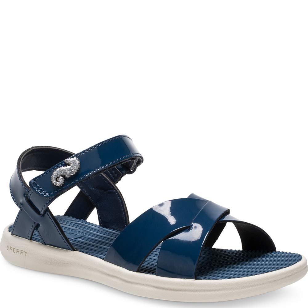 Sperry Girls Spring Tide Sandal Navy Patent 040 Medium US Big Kid