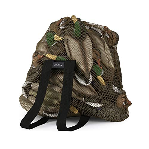 GearOZ Mesh Decoy Bag, Duck Hunting Gear for Hunting Avian Waterfowl Turkey Goose?Decoy Backpack Light Weight Blind Bag with Adjustable Shoulder Straps