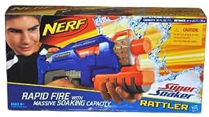 Hasbro Nerf Super Soaker Rattler - Pistola de agua, color azul