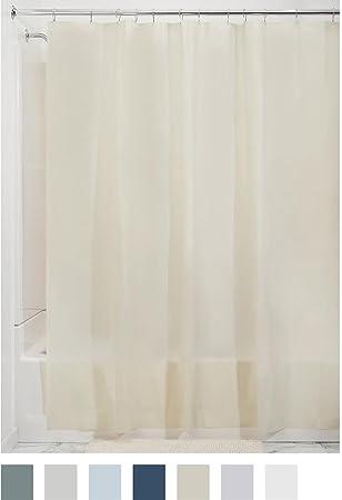 Superb InterDesign PEVA 3 Gauge Shower Curtain Liner   Mold/Mildew Resistant, PVC  Free U2013