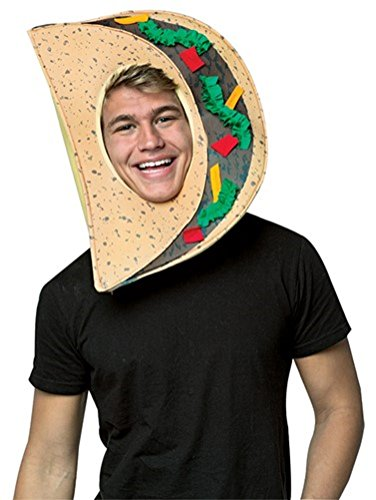 [Foodie Headpiece Mask - Taco] (Taco Adult Costumes)