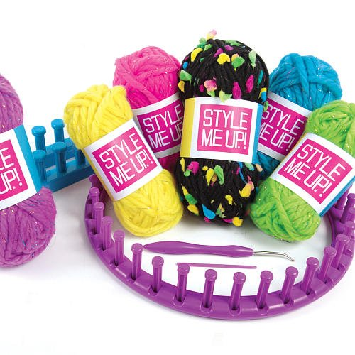 Style Me Up 2 In 1 Rainbow Knitting Kit Create Your Very Own Beanie Hat Or Infinity Scarf