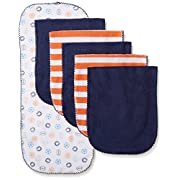 Gerber Baby Boys' 6 Pack Terry Burp Cloth, Sports, One Size