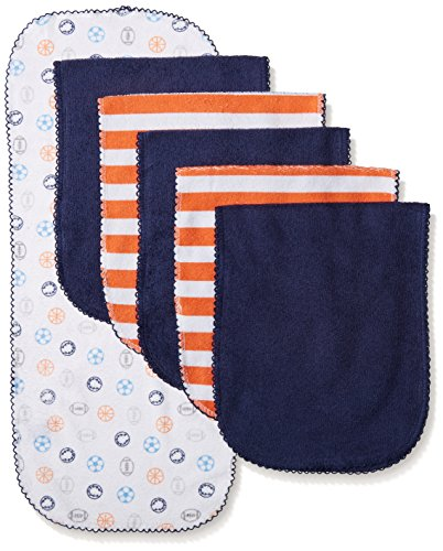 Gerber Baby Boys' 6 Pack Terry Burp Cloth, Sports, One Size (Boys Terry Cloth)