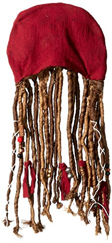 [Disney POTC5 Jack Sparrow Bandana W/Dreads - Child,  Multicolor,  One Size] (Kid's Jack Sparrow Hat)