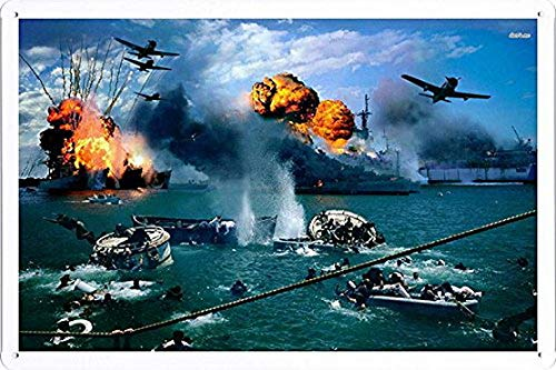 MariaP Pearl Harbor Tin Poster Decor Sign Funny Decorative Tin Signs Wall Art Decor ()