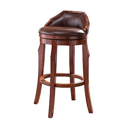 Peachy Amazon Com Cylq Rotating Solid Wood Bar Stools Swivel Frankydiablos Diy Chair Ideas Frankydiabloscom