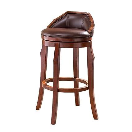 Awesome Amazon Com Cylq Rotating Solid Wood Bar Stools Swivel Inzonedesignstudio Interior Chair Design Inzonedesignstudiocom