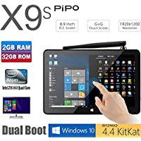 TOZO PIPO X9s 32GB Mini Computer 8.9 1920x1200 PC TV Box Desktop Intel Z8350 Quad Core Windows10 Android 4.4 Kikat Dual Boot Mini PC 2GB RAM 32GB ROM