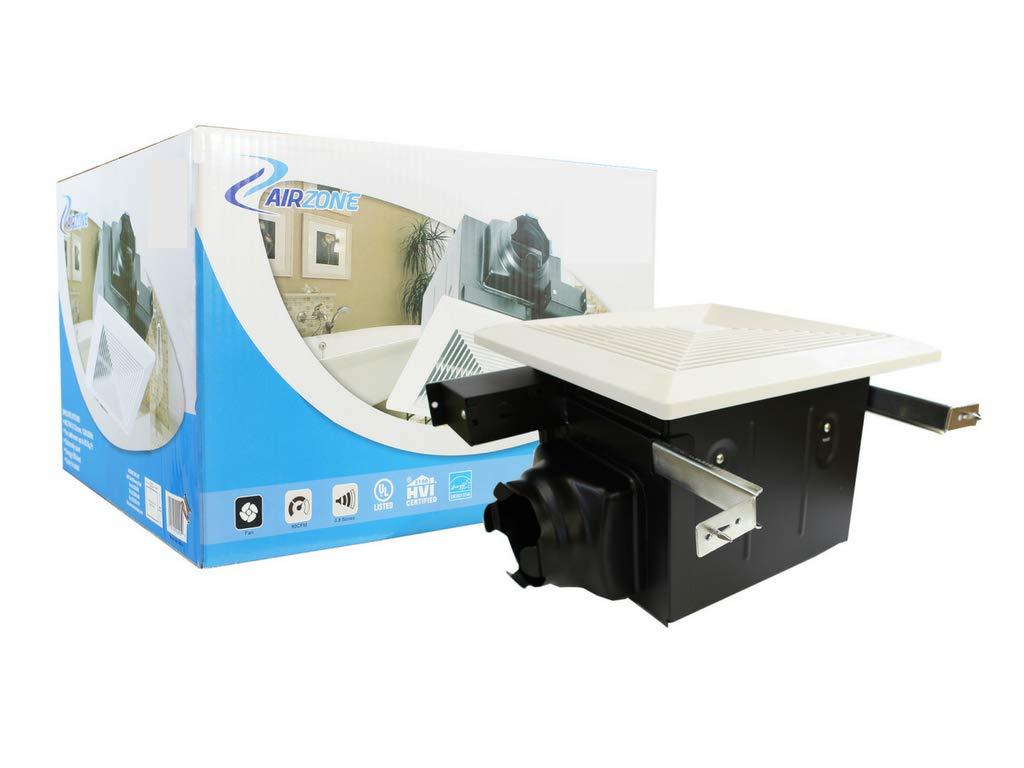 90 CFM Ultra Quiet Exhaust Vent 4'' Duct 0.7 Sones Premium AC Motor Light Whisper Silent Bathrooms