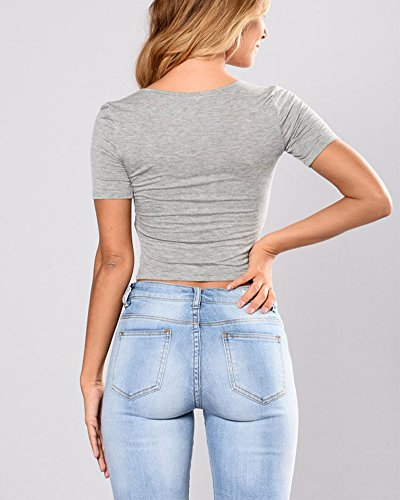 Strappati Azzurro Donna Casual Jeans Pantaloni Di Stile Chiaro Skinny pFwBa1q