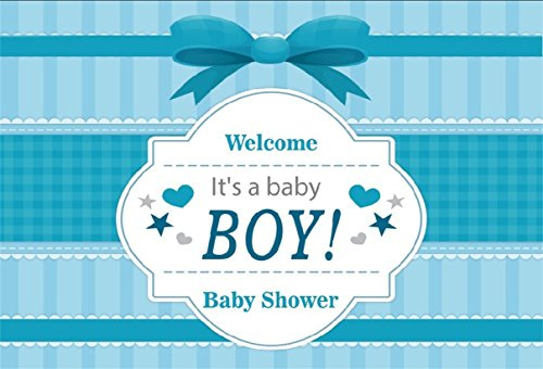 CSFOTO 8x6ft Background for Boy Baby Shower Photography Backdrop Baby Arrival Pregnancy Announcement Gender Reveal Party Pink Elephant Celebrate Newborn Infant Photo Studio Props Vinyl Wallpaper (Album Digital Photo 8')