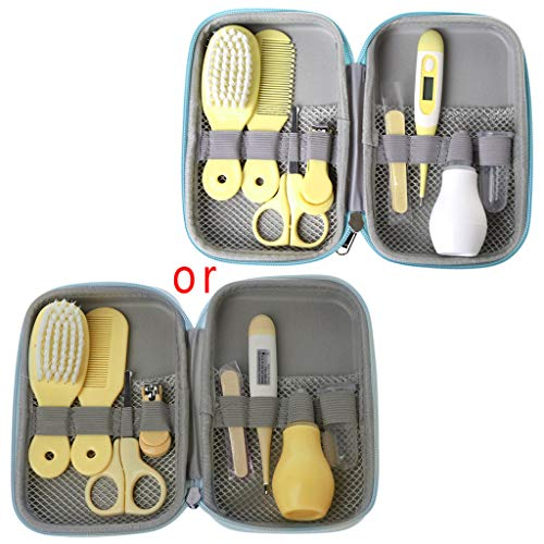 8pcs Baby Healthcare and Grooming Kit for Newborn Infant Toddler Kids (Yellow) ()