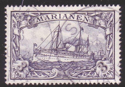 Goldhahn Marianen Nr. 18 gestempelt geprüft Briefmarken für Sammler