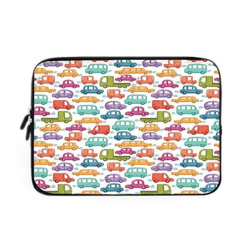 Used, Cars Laptop Sleeve Bag,Neoprene Sleeve Case/Doodle for sale  Delivered anywhere in USA