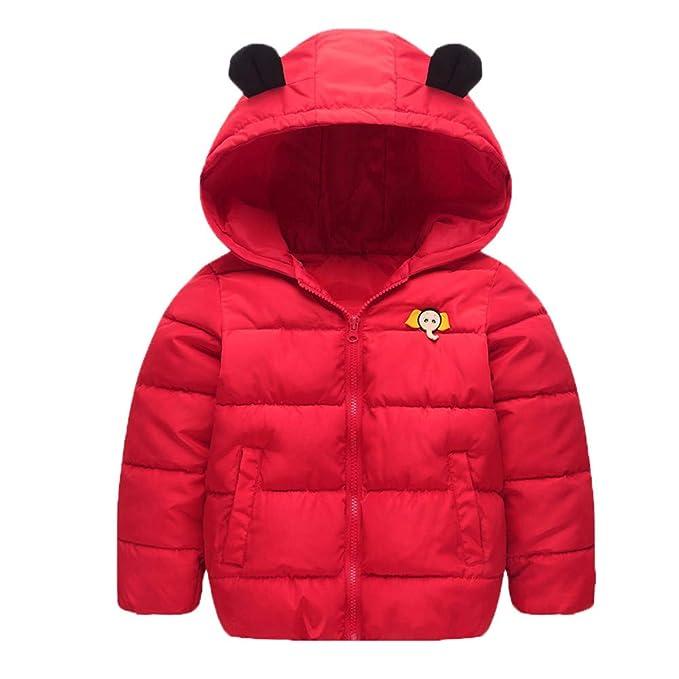... de Invierno para Bebé Niños con Capucha Cortaviento Abrigo Infantil Casual Color Cálido Acolchado Impermeable Rojo Navidad: Amazon.es: Ropa y accesorios
