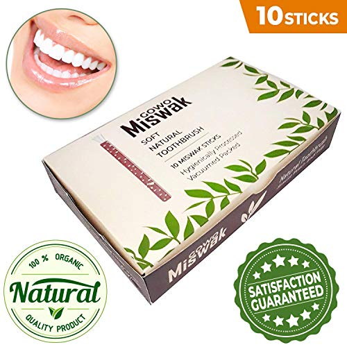 Used, GOWO 10 Pack Miswak Sticks and Holders - Natural Teeth for sale  Delivered anywhere in USA