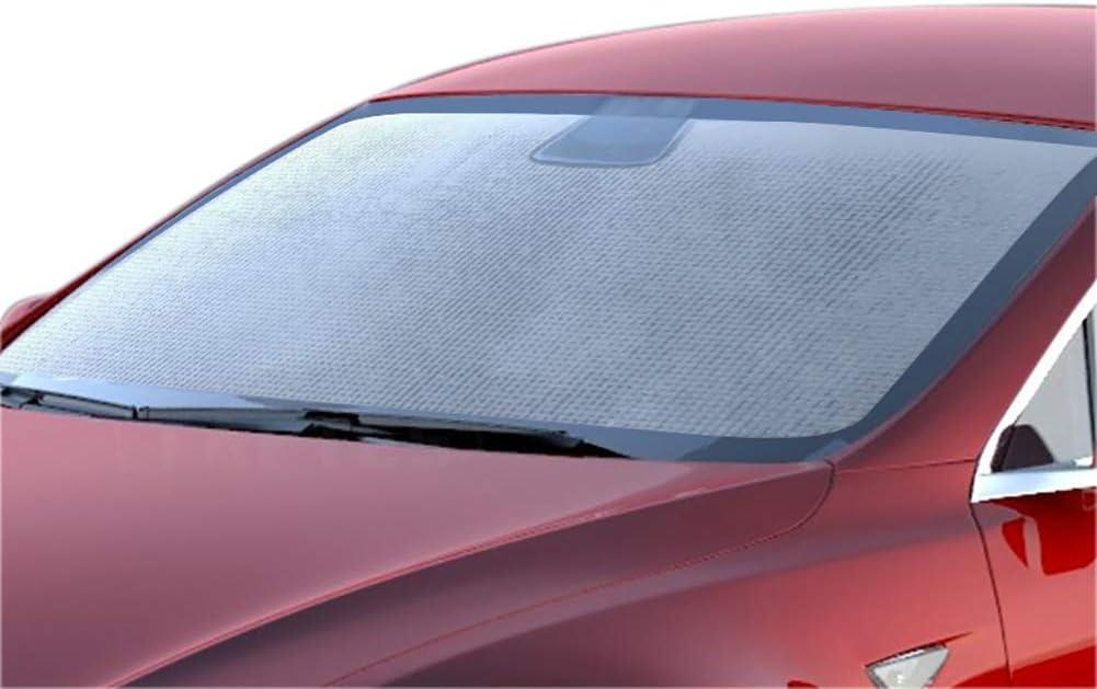 Quitar Mimiga f/ácil de Colocar Parasol para Parabrisas de Coche con protecci/ón UV para Tesla Model 3