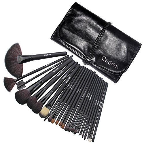 Cadrim 24pcs Makeup Brush Set Professional Makeup Kits Brushes Cosmetic Makeup Set for Women with Pouch Bag Case 51XPMk75U7L