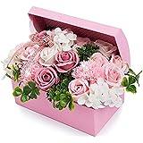 ハロウィン 父の日 ソープフラワー 創意ジュエリーギフトボックス 誕生日 母の日 記念日 先生の日 バレンタインデー 昇進 転居など最適としてのプレゼント (ピンク)