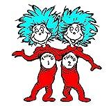 Dr Seuss Thing 1 Thing 2 Edible Image Photo Cake Topper Sheet Birthday Party Baby Shower - 1/4 Sheet - 78189  Sweet Cakes sheets makes photo image cake toppers for birthdays, children's birthdays, weddings, bridal showers, baby showers, 1st birthdays...