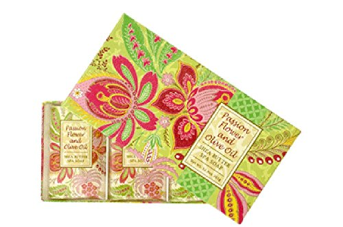 Passion Spa - Greenwich Bay Trading Co. Shea Butter Spa Soap, 12.9 Ounce, Passion Flower and Olive Oil, 3 Pack