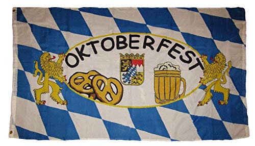 ALBATROS 3 ft x 5 ft German Bavarian Oktoberfest Octoberfest Beer Festival Flag Rough Tex Poly for Home and Parades, Official Party, All Weather Indoors Outdoors (Bavarian Eggs)