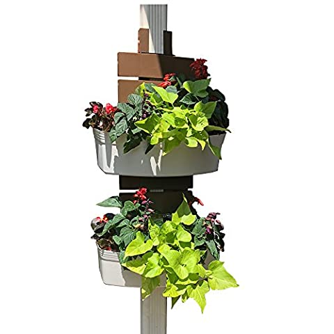 Downsprout Vertical Planter, Gutter Garden, Post Planter, Pergola Post Planter, Deck Planter, Living Wall (Turn Concrete Into Gold)