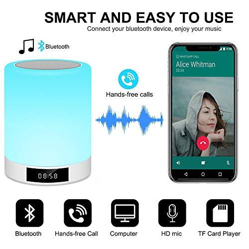 Night Light Bluetooth Speaker, Touch Control Lamp Speaker