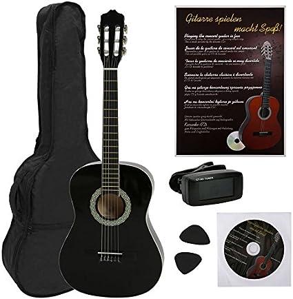 Navarra NV16PK 1/2 Conjunto de Guitarra Clásica con bolsa, libro ...