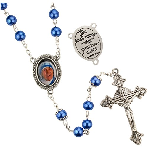 Pewter Filigree Bead - St.Teresa of Calcutta Rosary