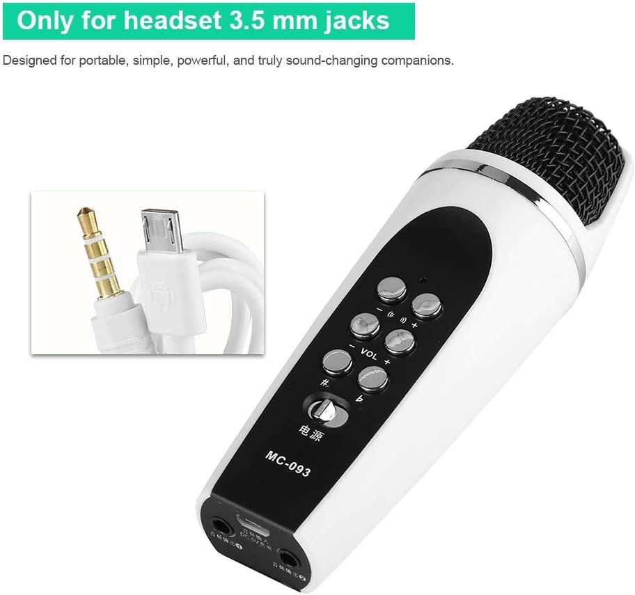 MC093 4 Modi Voice Changer Karaoke Microfoni Mini Smartphone Speaker Recorder Microfono Modifica Progettato per iPhone iPad PC Laptop Android