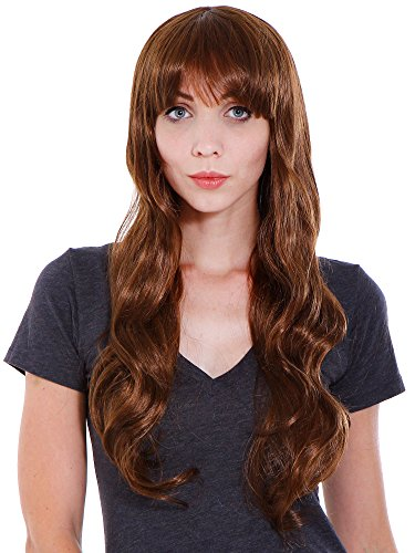 [Simplicity Women Cosplay Party Costume Long Curly Wave Wigs with Free Wig Cap] (Uncle Sam Halloween Costume Make Your Own)