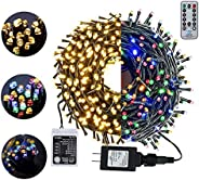 105FT 300LED Christmas Lights Outdoor Indoor