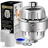 10-Stage Shower Water Filter - 2 Replacement Cartridge Included - Removes Chlorine, Impurities & Unpleasant Odors - Boosts Skin and Hair Health - For Any Shower Head and Handheld Shower AquaHomeGroup