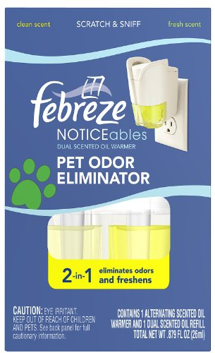 Febreze Noticeables, Pet Odor Eliminator, Dual Scented Oils, Clean and Fresh Scents 1 ea
