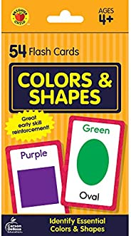 Carson Dellosa | Colors and Shapes Flash Cards | Preschool, 54ct
