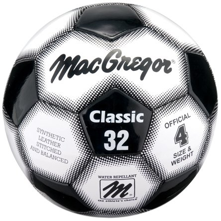 - MacGregor Classic Soccer Ball, Size 4