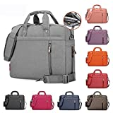 Samaz Laptop Bag Nylon Shakeproof Laptop Messenger Shoulder Bag Laptop Sleeve Cover Briefcase with Shoulder Strap for 17 Inch Laptop/Notebook/Ultrabook/Macbook Pro Retina Case (Gray)