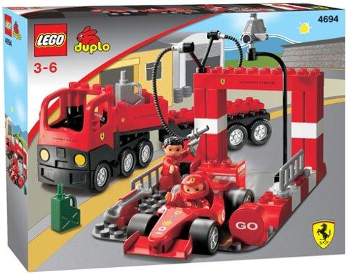 LEGO Duplo 4694 - Ville Großer Ferrari Pitstop B0002HLBUE Bauklötze & Bausteine Neuheit Spielzeug | Ausreichende Versorgung