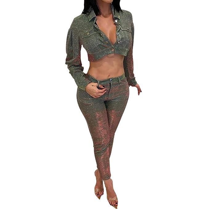 Amazon.com: Uni Clau - Conjunto de traje de mujer de 2 ...