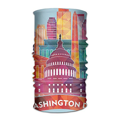 Magic Headwear Washington DC Outdoor Scarf Headbands Bandana Mask Neck Gaiter Head Wrap Mask -