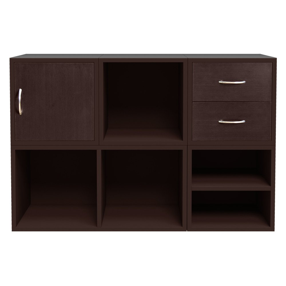 Foremost 340009 Modular 5-in-1 Shelf Cube Storage System, Espresso Foremost Groups Inc.