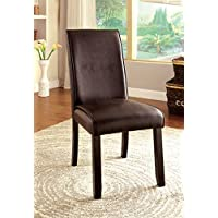 Furniture of America Minna Contemporary Leatherette Dining Chair, Set of 2
