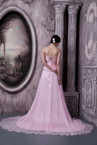 rosa Neue Elegante Abendkleid Rosa traegerloses GEORGE Perlen langes BRIDE 1vEwBqRxOR