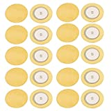Aexit 20pcs 20mm Diameter Piezo Discs Piezoelectric Ceramic Copper Buzzer Film Gasket