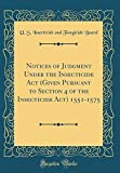 img - for Notices of Judgment Under the Insecticide Act (Given Pursuant to Section 4 of the Insecticide Act) 1551-1575 (Classic Reprint) book / textbook / text book