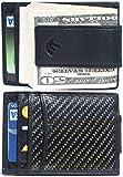 Carbon Fiber Wallet Money Clip Card Holder - Slim Man Front Pocket Wallet-RFID Blocking