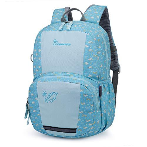 Mountaintop Kids Backpack/Toddler Backpack/Pre-School Kindergarten Toddler Bag (Light Blue) (Best Toddler Hiking Backpack)